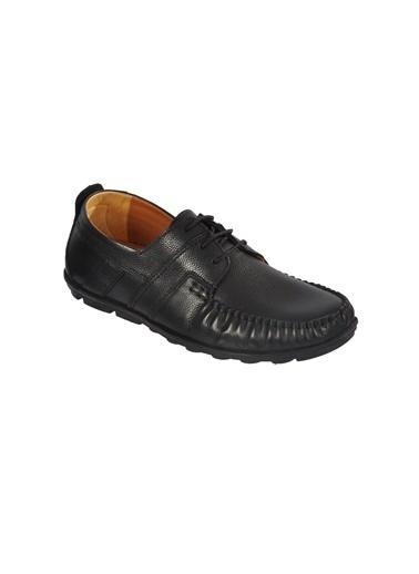 Ayakmod 9105 Hakiki Deri Siyah Erkek Günlük Ayakkabı Siyah